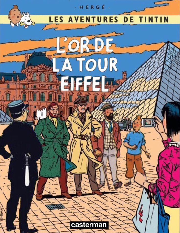 Les Aventures de Tintin - Album Imaginaire - L'Or de la Tour Eiffel