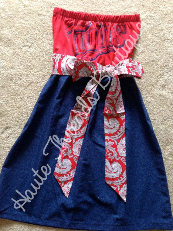 MLB Minnesota Twins Baseball Gameday Red by hautethreadsboutique, $70.00
