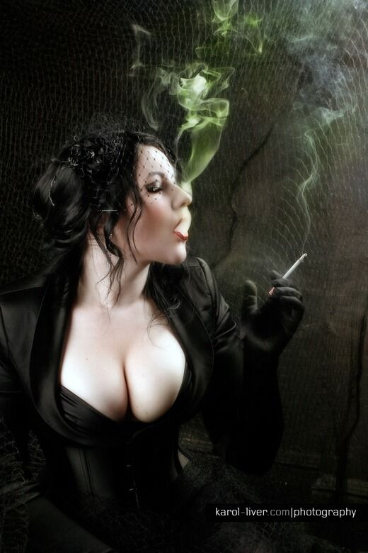 """♥♥♥♥   """"Exhale""""   #sexy #smoking #gothic #girl ( Get your goth on with gothic punk clothing - a favorite repin of www.vipfashionaustralia.com )"""