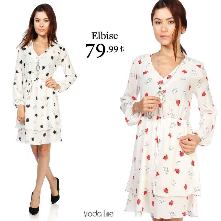 Kelebekli elbise #modalinepark'ta! Siyah: http://goo.gl/tNbrth Mercan: http://goo.gl/7tuzgV