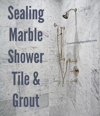 How to tips: Sealing Marble Shower Tiles & Grout. When to seal or not to, testing, best sealers, avoiding problems... http://www.countertopspecialty.com/sealing-marble-shower-tile-grout.html