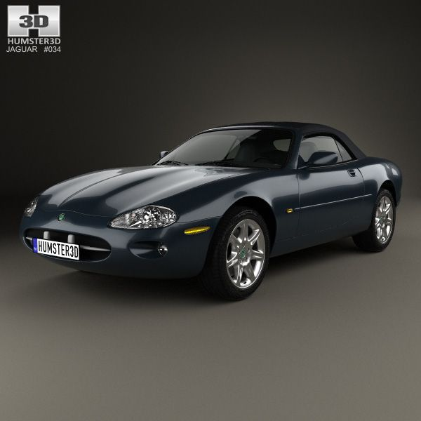 Jaguar XK 8 convertible 1996 3d model from humster3d.com. Price: $75