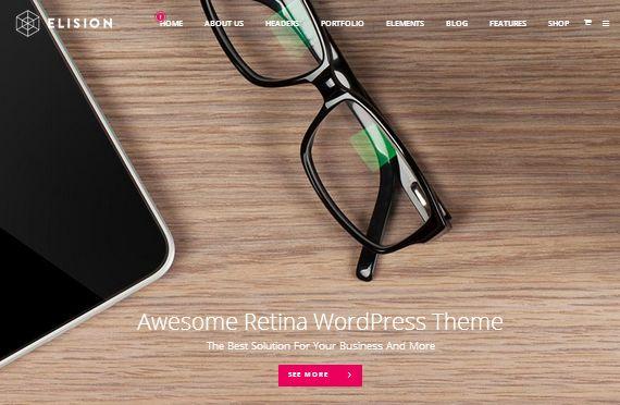 50  High Quality Retina Ready WordPress Themes