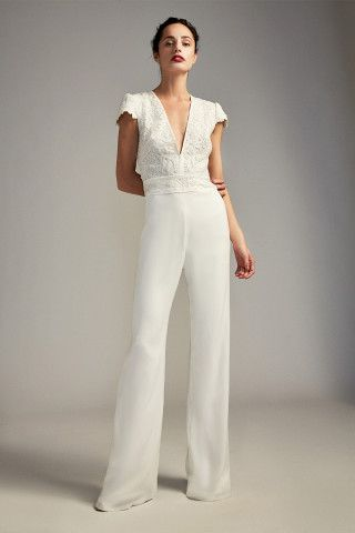 b28664ff896e Tadashi Shoji Zeina Jumpsuit. Tadashi Shoji Zeina Jumpsuit Designer Wedding  Gowns ...