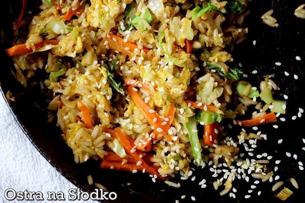 smazony ryz , ryz z warzywami , kuchni tajska , smazony ryz na ostro , sezam…