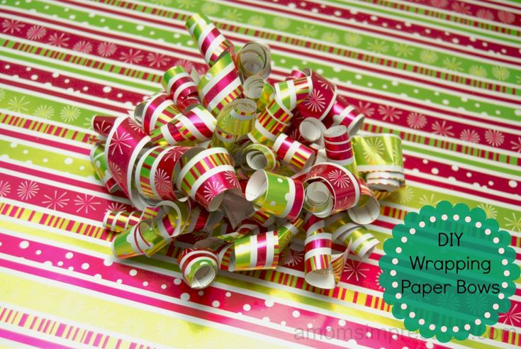 DIY Homemade Wrapping Paper Bows... so easy!