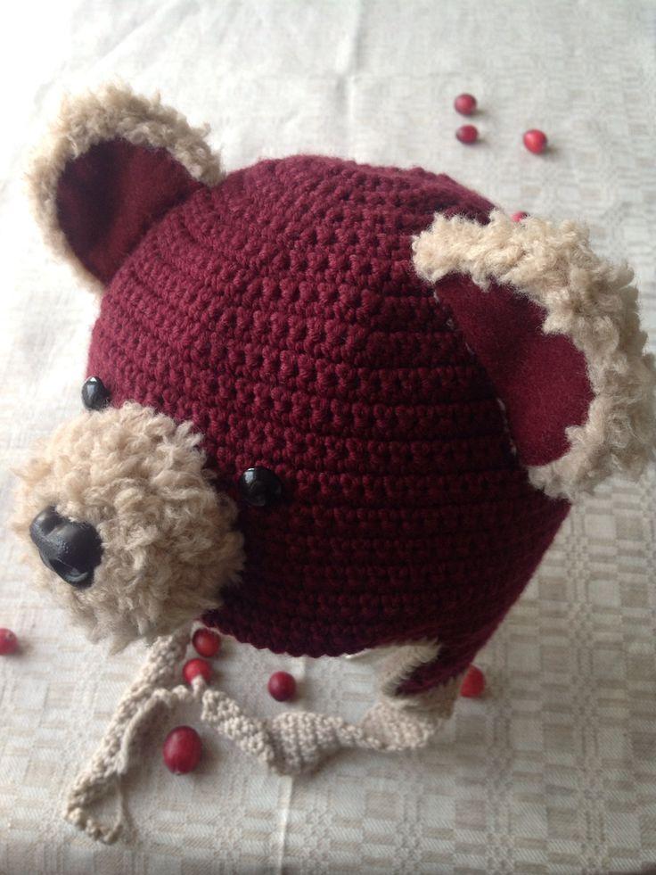 crochet Latvian bear hat