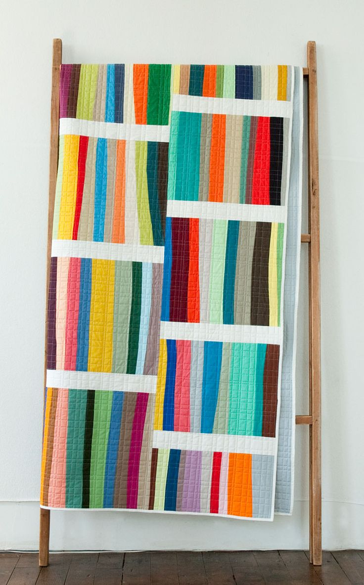 best modern quilt patterns images on pinterest  modern quilt  - a different stripe  denyse schmidt quilts
