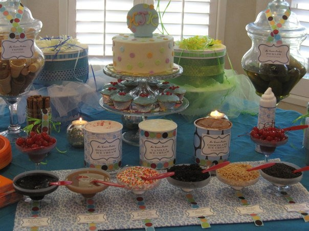 Cravings Themed Baby Shower. Snack Table.