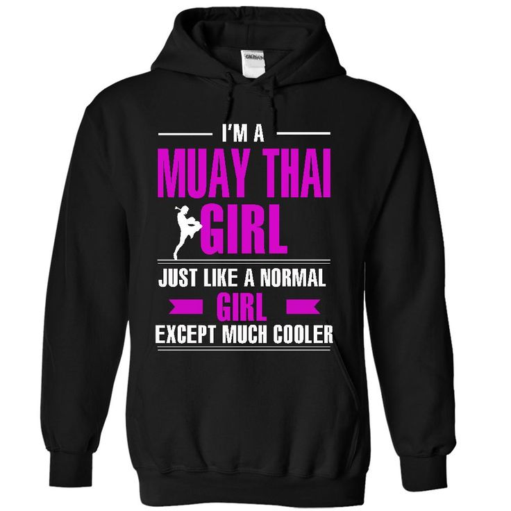 Cool Muay Thai girl T-Shirts, Hoodies. GET IT ==► https://www.sunfrog.com/LifeStyle/Cool-Muay-Thai-girl-9084-Black-8810081-Hoodie.html?id=41382
