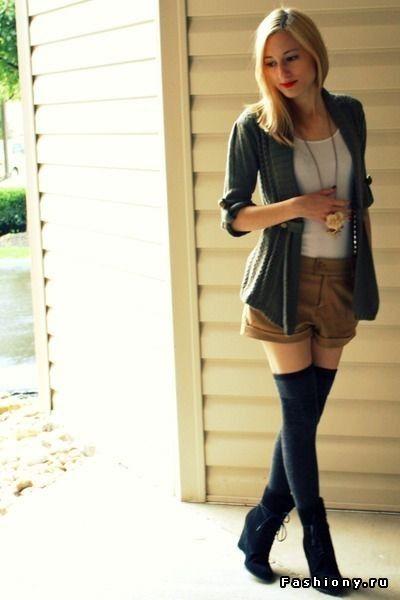 Гольфы выше колена в вашем гардеробе