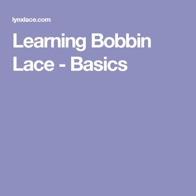 Learning Bobbin Lace - Basics