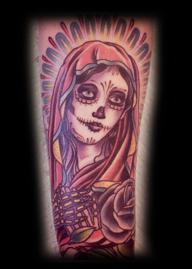 Day of the dead Guadeloupe by Adam the Kid #tattoo #kustomthrills