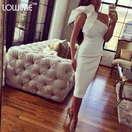 2015 Arabe robes de soirée robes formelles Noiva une épaule gaine Parti Robes 2016 Mode genou courtes Robes de bal                                                                                                                                                                                 Plus