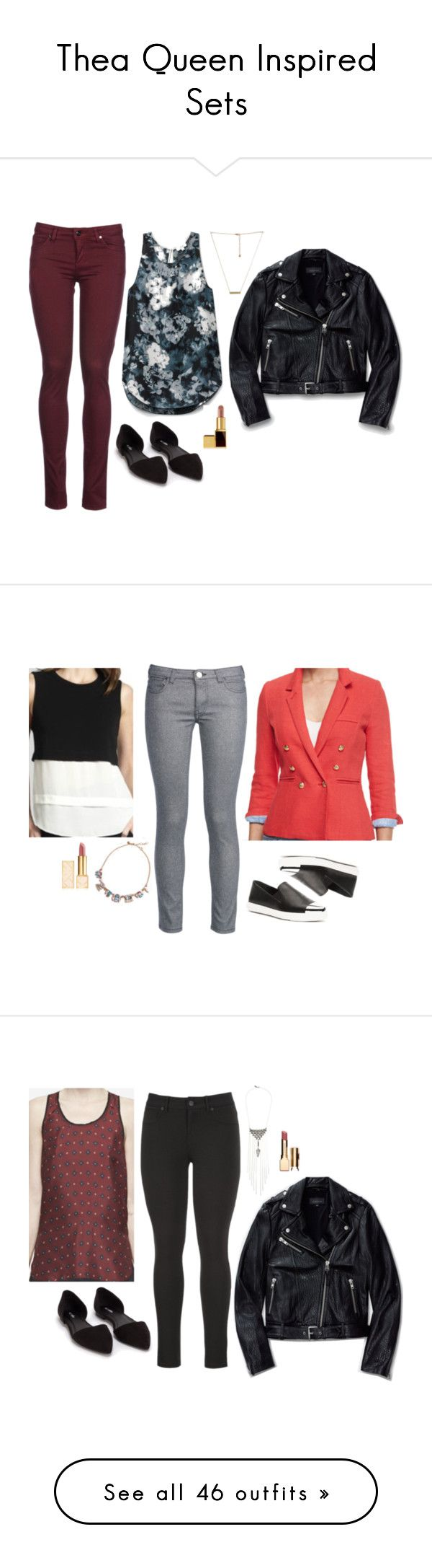 """""""Thea Queen Inspired Sets"""" by daniellakresovic ❤ liked on Polyvore featuring Mackage, 8, Nly Shoes, Tom Ford, A.L.C., George J. Love, Tory Burch, maurices, Clarins and T By Alexander Wang"""