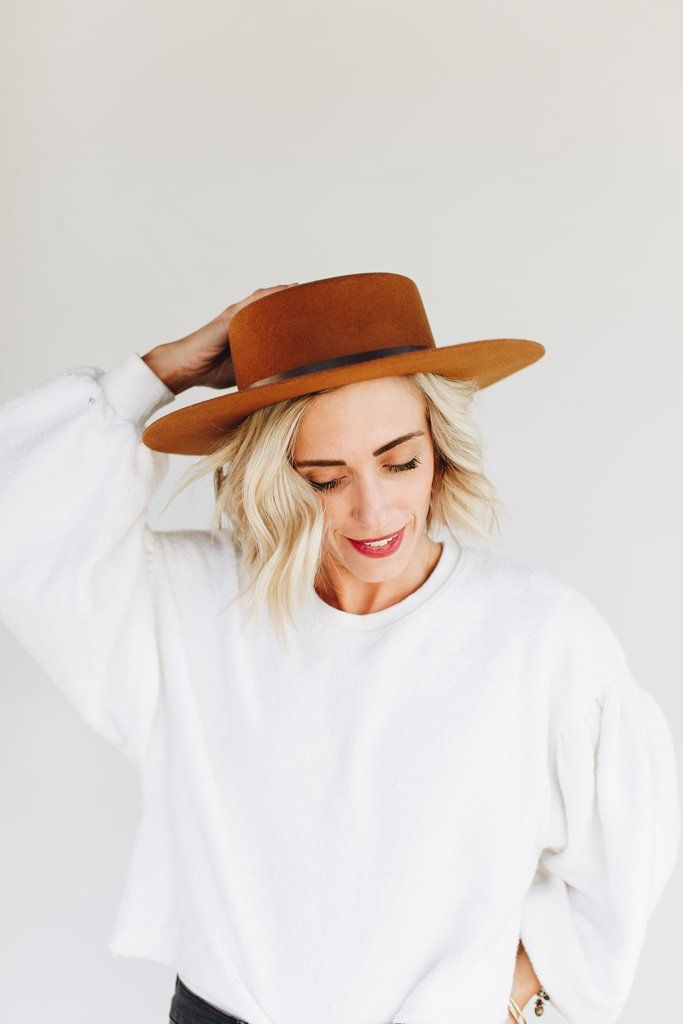 51f0683e498eb Dahlia Brown - Women's Boater Hat in 2019 | My Style | Hats, Hats ...