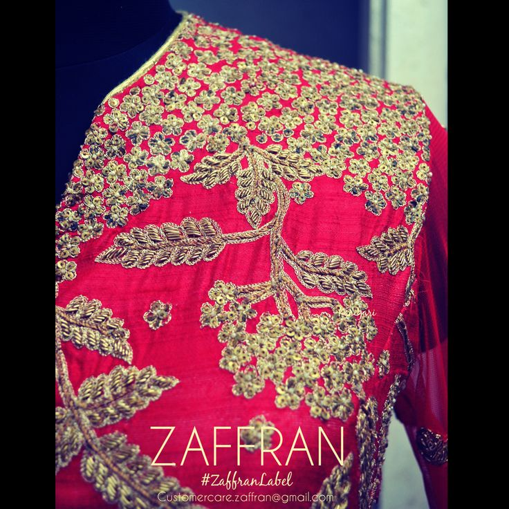 Embroidery by ZAFFRAN. To custom design your ensemble, contact: customercare.zaffran@gmail.com