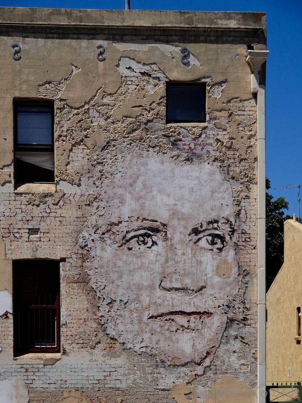 Street art on a building at the Norfalk Street in Fremantle, Western Australia