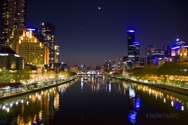 Melbourne in the night