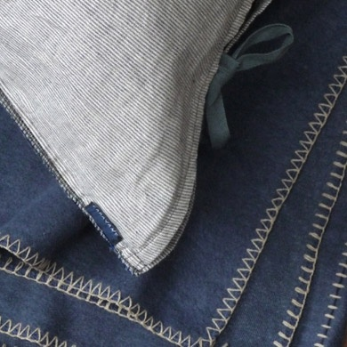 gorgeous stitching detail on bedding