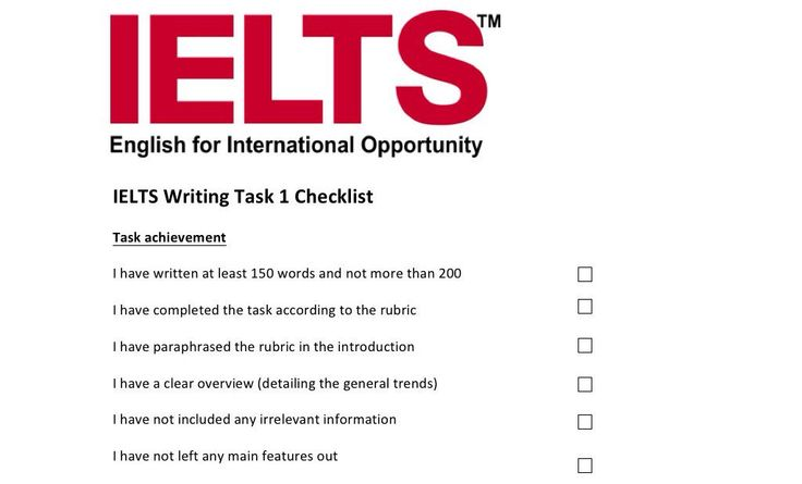 An editing checklist for IELTS