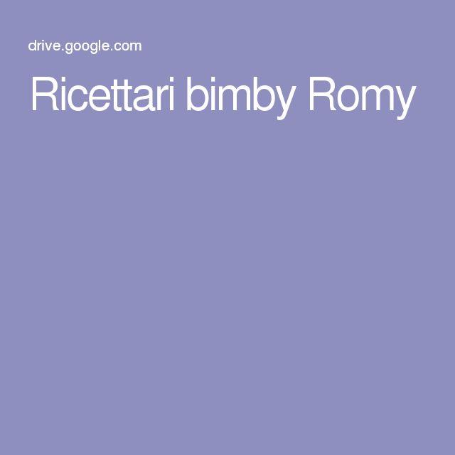Ricettari bimby Romy