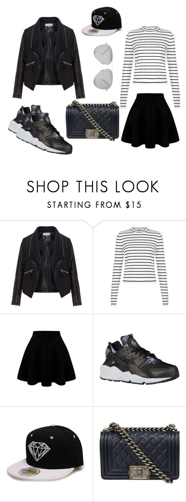 #OOTD33 by salbiylaazzara-fashion on Polyvore featuring New Look, Zizzi, NIKE, Chanel and Victoria Beckham