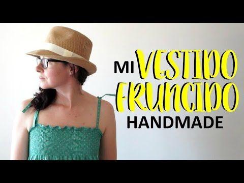Mi vestido fruncido handmade. - YouTube