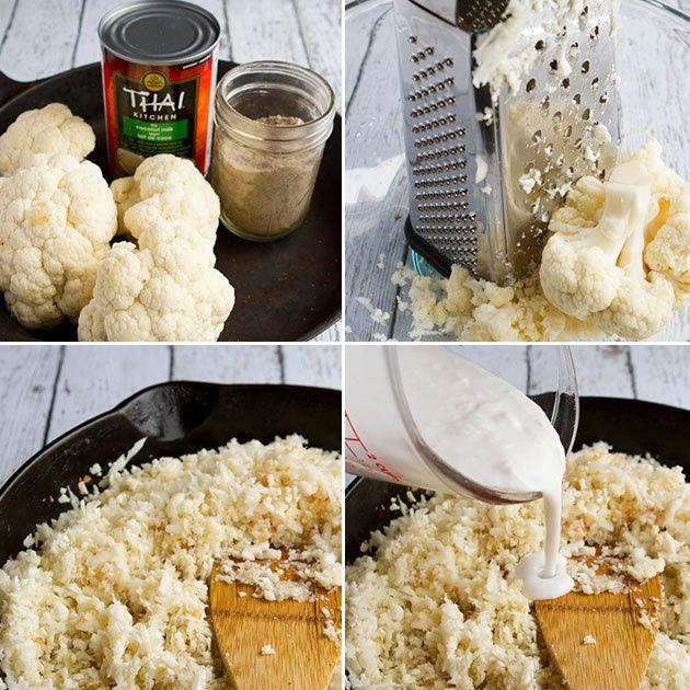 Coconut Cauliflower Rice savoury and a sweet version - vegan