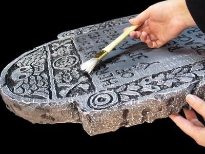 HOW TO MAKE STYROFOAM TOMBSTONES FOR HALLOWEEN...by Lynne Mitchell..I a lucky I work (her day job)with this amazing talented woman!