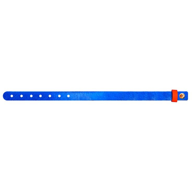 No.153 Furry Hair Leather Bracelet / Royal-Blue