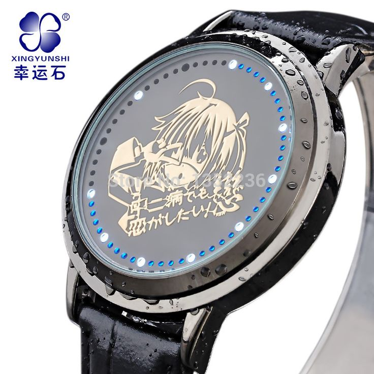Find More Wristwatches Information about Anime Chuunibyou Demo Koi ga Shitai  watch   rikka takanashi watch  the mark fashion waterproof looply led clock watch,High Quality Wristwatches from alienbaybay on Aliexpress.com