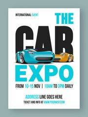 The Car Expo Flyer, Template or Banner design.