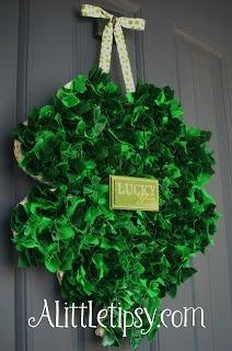 Scrappy St. Patrick's Day Shamrock Wreath