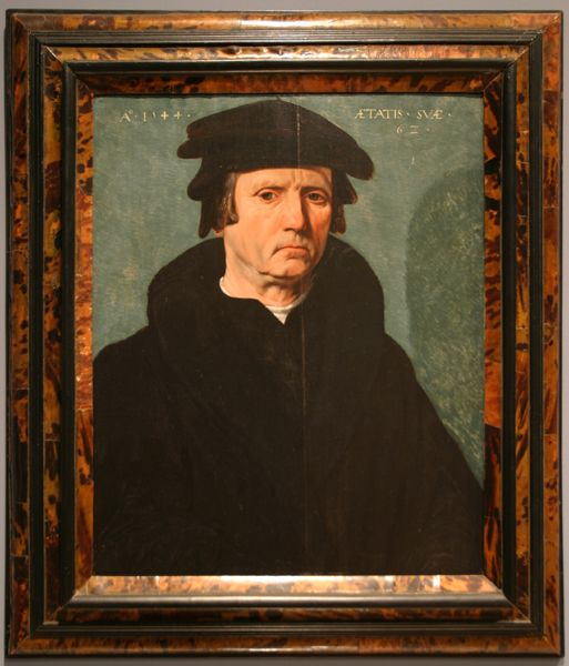 """Master of the Forties. """"Portrait of a 62-Year-Old-Man."""" 1544. Oil on panel."""