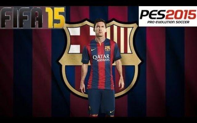 Fifa 15 vs Pes 15: sembra che ci sia un vincitore #fifa15 #pes15 #calcio.videogiochi