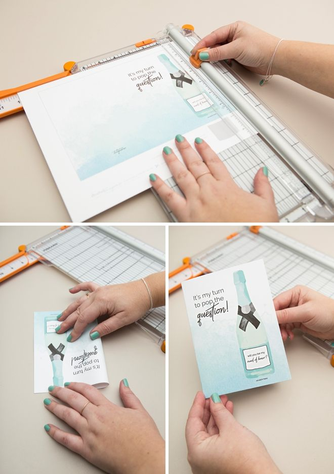 Newly engaged? Ask your girlfriends with handmade will you be my bridesmaid cards! Click here for a cute idea from Something Turquoise.
