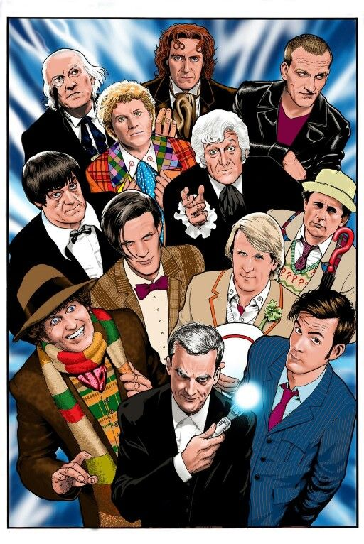 Many faces of Dr Who. Doctor who, Doctor who art, Doctor