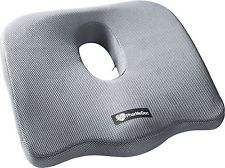PharMeDoc Coccyx Seat Cushion -Sciatica Pillow for Back Pain - #1 Memory Foam...