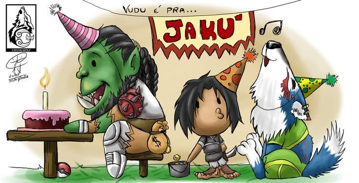 Caneca de aniversário para meu grande amigo Jaku!