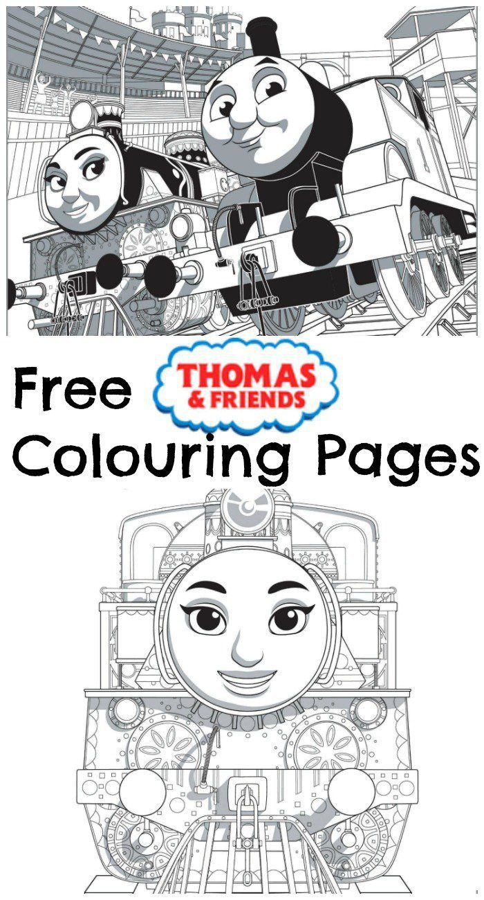 free printable thomas and friends colouring pages, from the new movie thomas & friends the great race. Great for toddlers and preschools who love Thomas the train