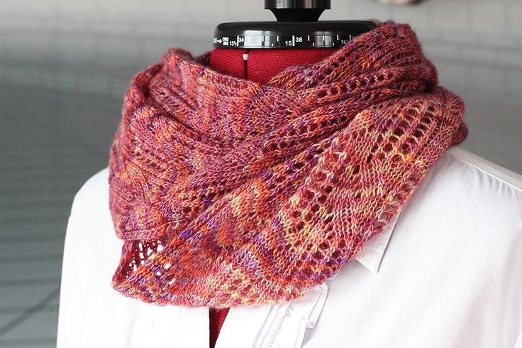Archangel Cowl - one skein of Malabrigo Lace and a simple lace pattern