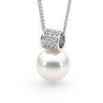 18ct white gold Broome South Sea 13mm pendant