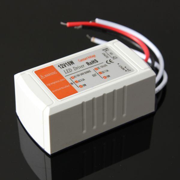12V DC 18W Power Supply LED Driver Adapter Transformer Switch For LED Strip LED Light Bulb