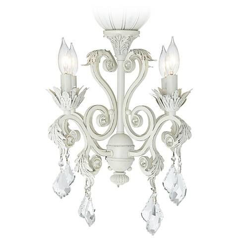Pull Chain Crystal Bead Candelabra Ceiling Fan Light Kit - #19775 | Lamps Plus