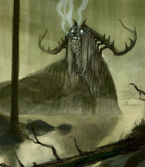Iku-Turso - A malevolent sea monster in Finnish mythology, mentioned in the Finnish national epic Kalevala