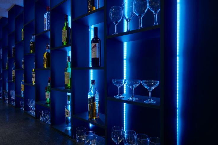Bar Detail - LED backlighting for dramatic effect
