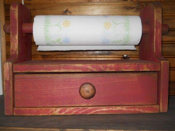 PRimitive Rustic Paper Towel Holder