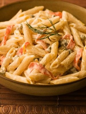 Penne paste with Smoked Salmon & Cream Cheese Sauce