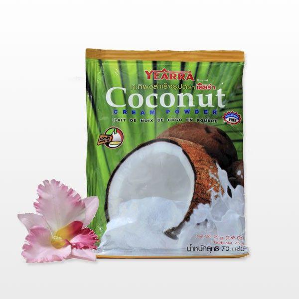 Кокосовая крем пудра Coconut Cream Powder от Yearra - перемолотая в пудру сушеная мякоть кокосового ореха без добавок и консервантов. Имеет вкус и аромат кокоса, отлично подойдет для приготовления супов, выпечки, мороженого, фруктового желе, нежный вкус кокоса отлично сочетается с морепродуктами и мясом. Крем пудра может использоваться и для приготовления в домашних условиях средств по уходу за кожей и волосами, для мыловарения.